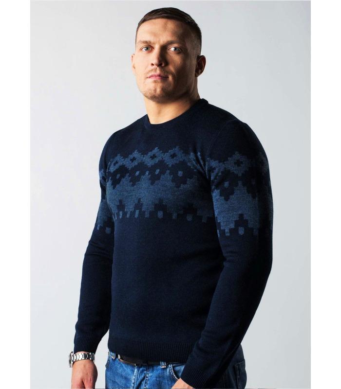 Чоловічий в'язаний светр з візерунком  (05).