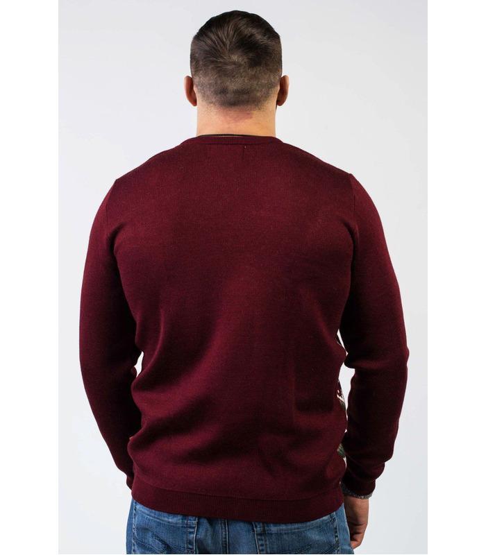 Чоловічий в'язаний светр зимового кольору (03).