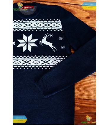 Мужской вязаный свитер (мод.46).