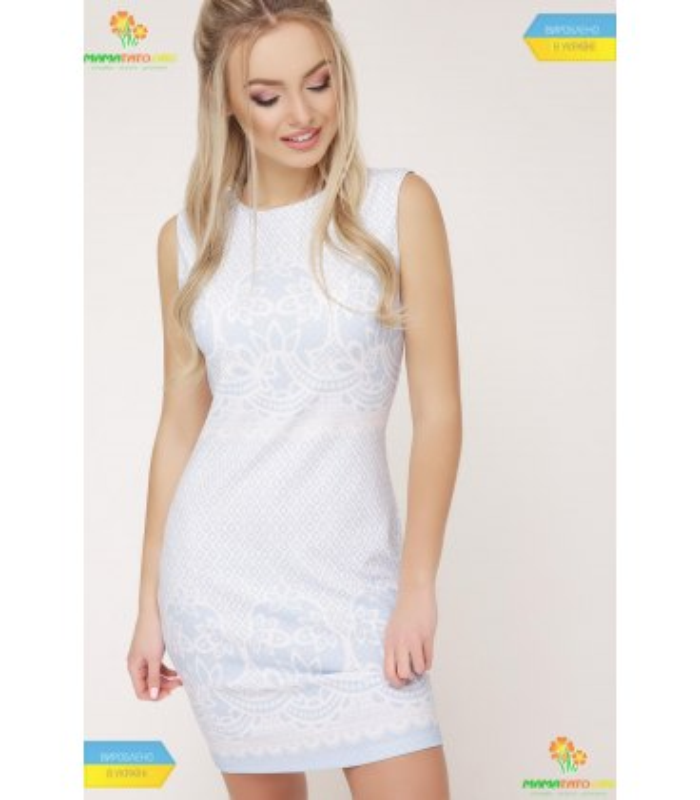 Платье Лейла Голубой Узор
