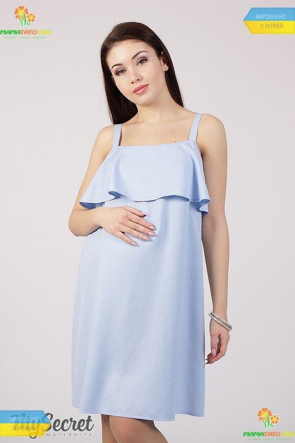 7f53c1fed0ffa2 Сарафан Еліша BL ᐈ блакитний сарафан вагітним, для годування, купити