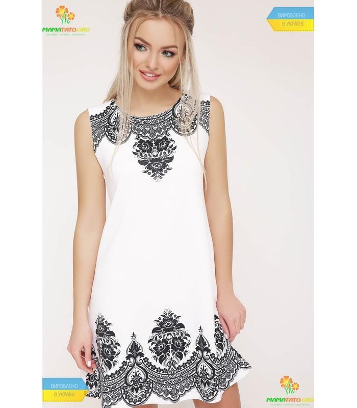 869d6e5ce3189a Сукня Лада WH ᐈ коротка біла сукня з принтом, чорно-біла, літня