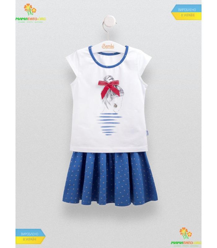 Костюм Кокетка (КС550), літній костюм для дівчинки