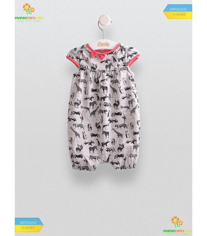 Полукомбинезон Зоо (ПК150), летняя детская одежда купить