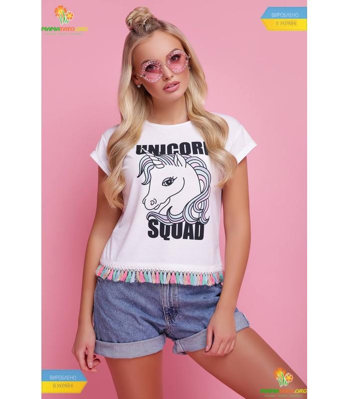 Футболка Единорог, модная женская футболка