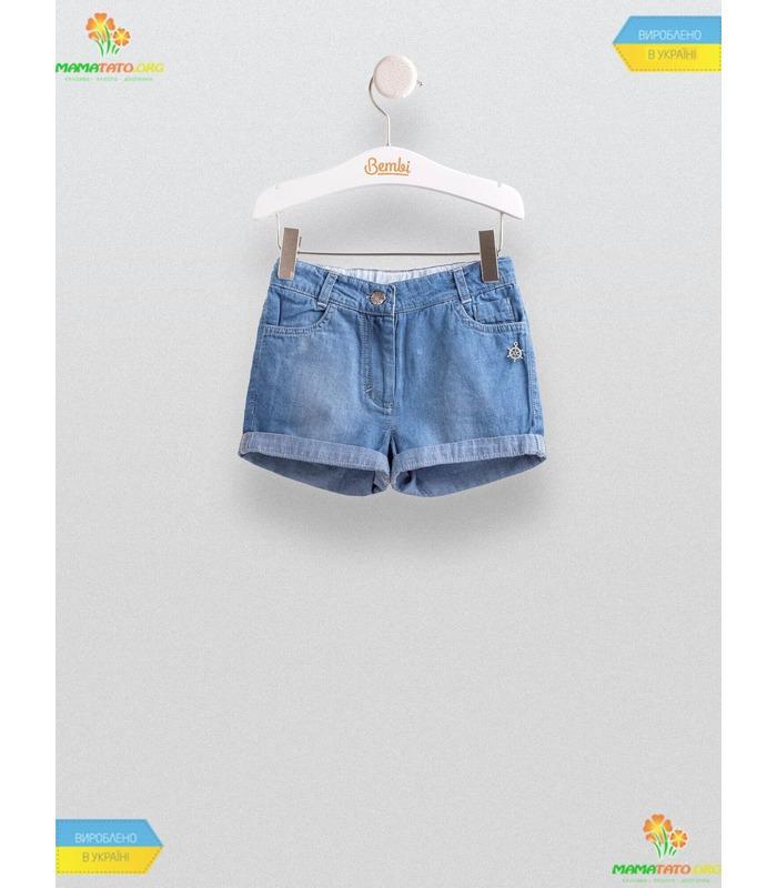 Джинсові шорти для дівчинки ШР447, дитячі шорти джинс
