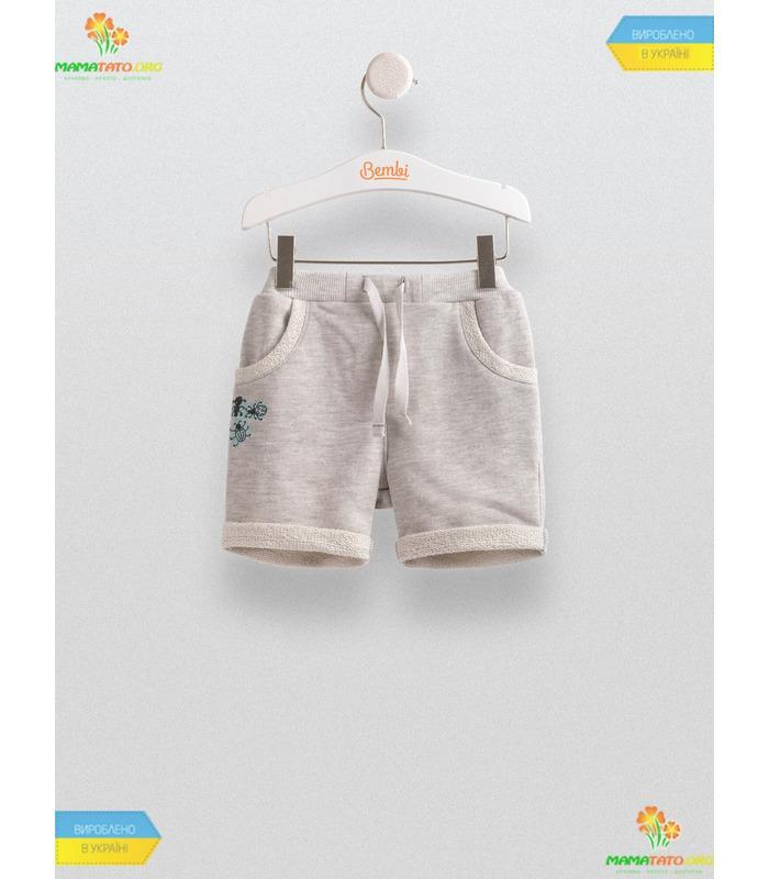 Шорти для хлопчика ШР459, сірі дитячі шорти