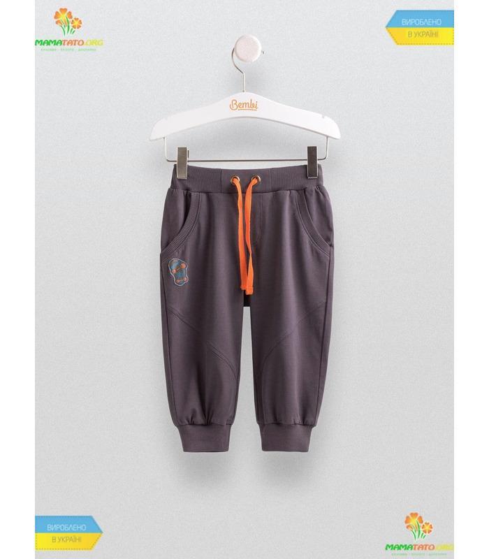 Бриджи для мальчика ШР454, серые детские штаны GR