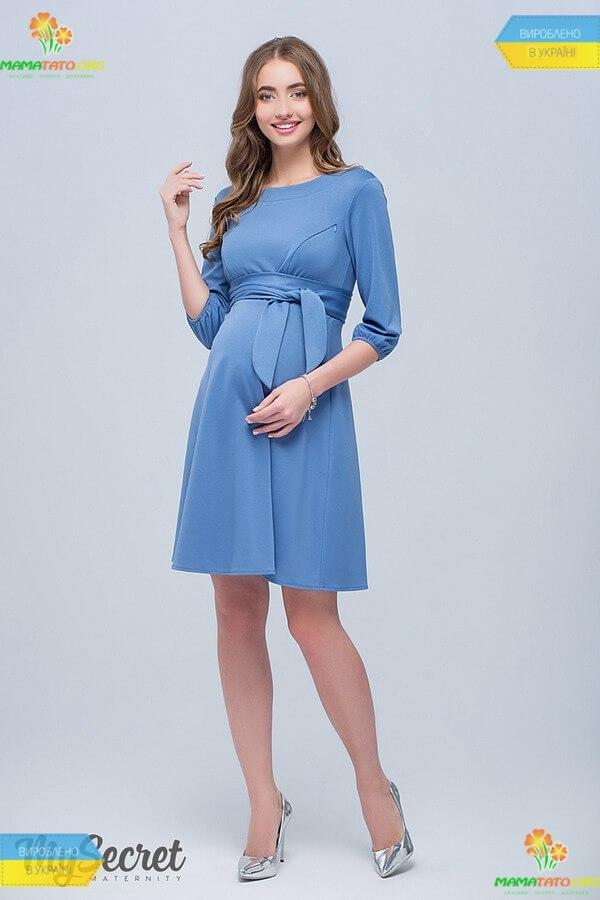 160a5d4cfed353 Сукня Глорія BB ᐈ блакитне плаття для вагітних та годуючих