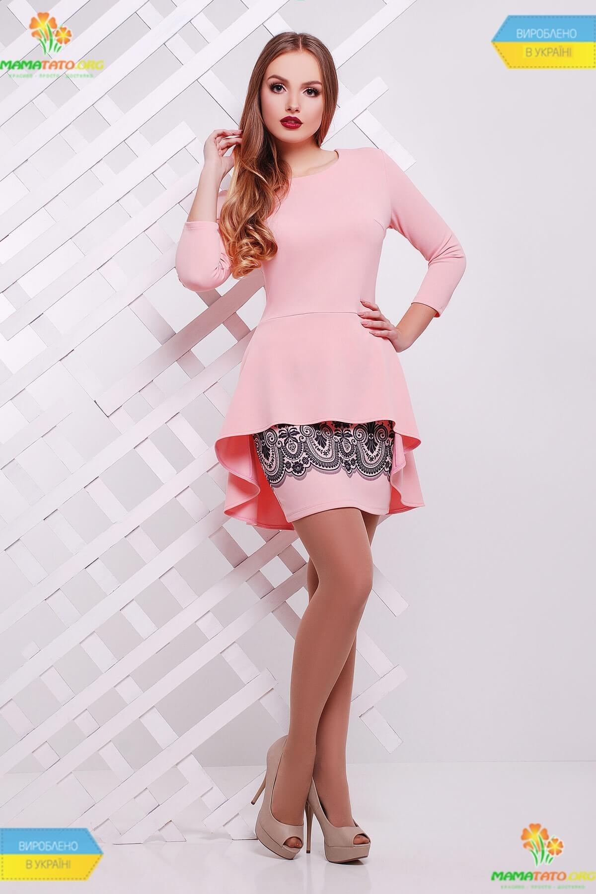 ed1bdfe90669ca Костюм Елізабет RO ᐈ персиковий жіночий костюм з баскою