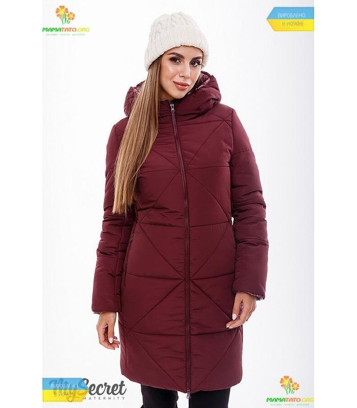 Зимове пальто зі вставкою Енжі.