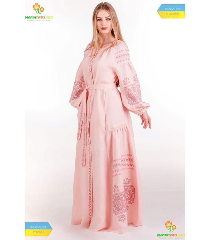 Вишита лляна сукня (мод.0038)