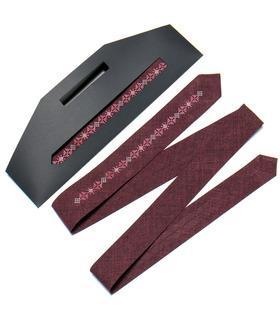 Вишита вузька краватка 763