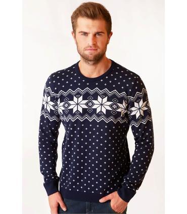 Чоловічий в'язаний светр мод.6205