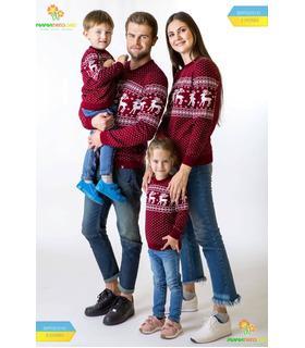 Мужской вязаный свитер Олени мод.79