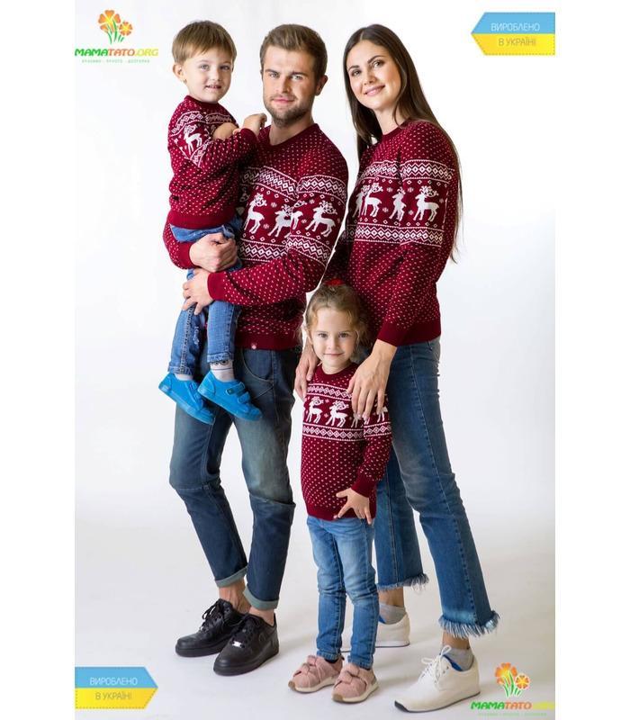 Чоловічий в'язаний светр Олені мод.79