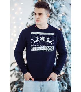 Чоловічий світшот Різдвяне Диво мод.586