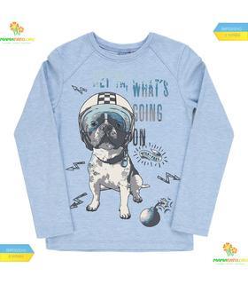 """Джемпер для мальчика """"Собака в каске"""" мал.(ФБ395) интерлок."""
