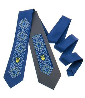Вышитый галстук с трезубом 820