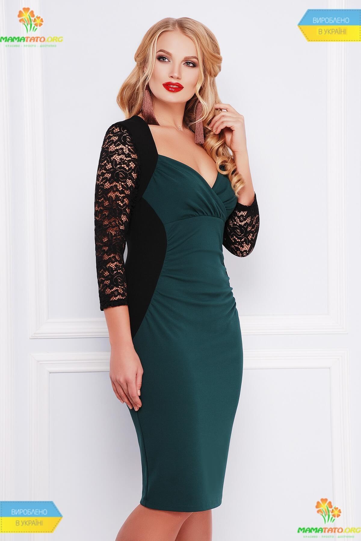ae267227cef07f Сукня Сусанна ПК SM ᐈ нарядна зелена сукня великих розмірів