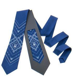 Вышитый галстук с трезубом 819
