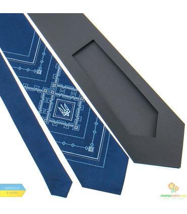 Вишита краватка з тризубом 819