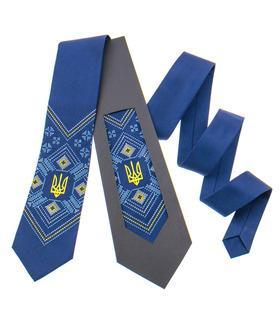 Вышитый галстук с трезубом 821