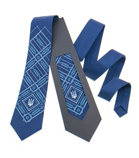 Вышитый галстук с трезубом 822