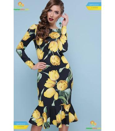 Платье Фаина Желтые Тюльпаны