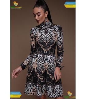 Платье Эльнара Леопард-цепи
