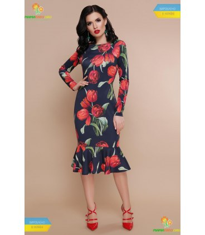 Платье Фаина Красные Тюльпаны