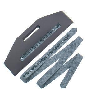 Вышитый тонкий галстук 828