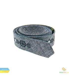 Вишита тонка краватка 828
