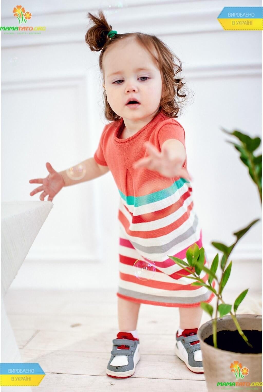 b8e870a44b3e09 Сукня у смужку ПЛ700 ᐈ трикотажне плаття дівчаткам