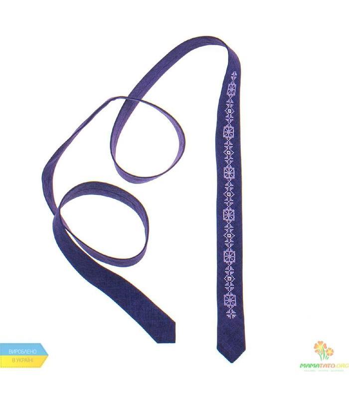 Вышитый тонкий галстук 833