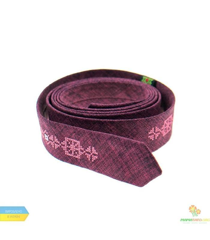 Вишита тонка краватка 836