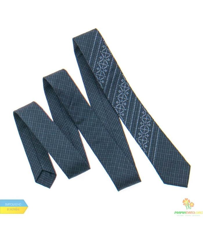Вузька краватка з вишивкою 837