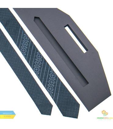 Узкий галстук с вышивкой 837