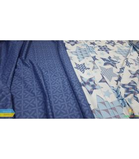 Комплект постільної білизни Зоряний принт ᐉ сатин ※ Україна, натуральна тканина