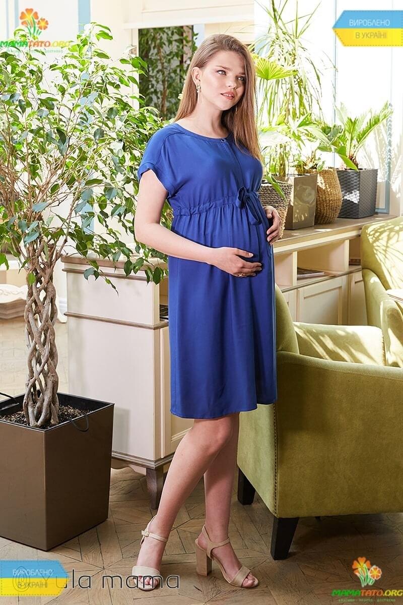 dc6d9f040876056 Платье Росса TS ᐈ синее летнее платье беременным и кормящим