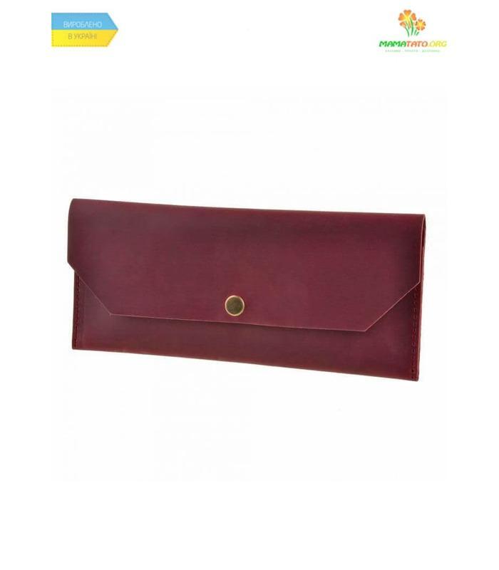Кожаный клатч-конверт Виноград ᐉ Натуральная кожа, ручная качественная работа