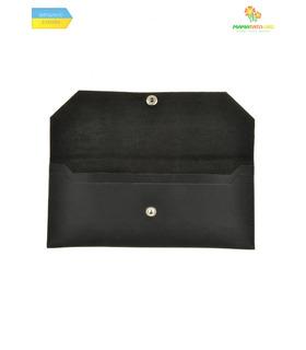 Кожаный клатч-конверт Графит ᐉ Натуральная кожа, ручная качественная работа