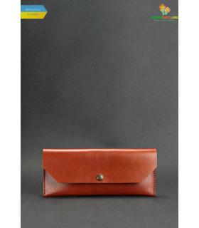 Кожаный клатч-конверт Коньяк ᐉ Натуральная кожа, ручная качественная работа