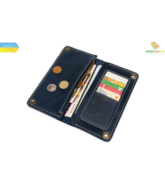 Купити ᐉ Гаманець Gato Negro Alfa-X BL ᐉ український виробник, ручна робота