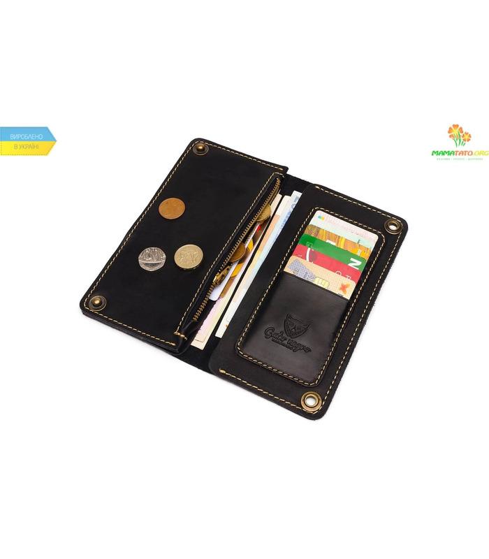Купить ᐉ Кошелек Gato Negro Alfa-X BK ᐉ украинский производитель, ручная работа