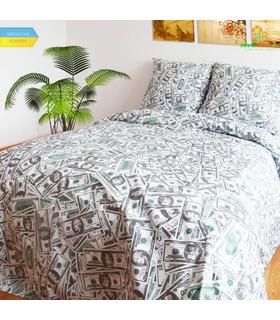 Комплект постільної білизни Доллары ᗍ бязь, Україна, ціна, натуральна тканина