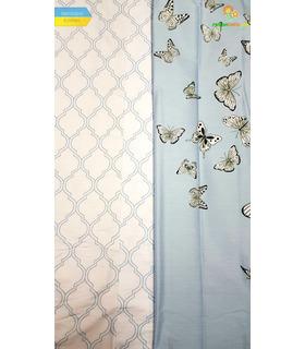 Комплект постільної білизни Аква ᗍ сатин ※ Україна, натуральна тканина