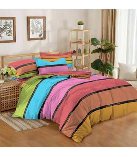 Комплект постельного белья Малибу микс ᗍ сатин ※ Украина, натуральная ткань