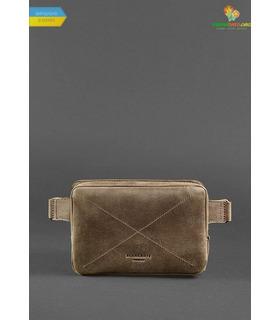 Шкіряна сумка на пояс DropBag mini BR коричнева ᐉ Україна, HandMade, натуральна шкіра