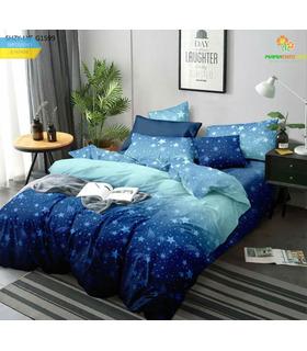 Комплект постельного белья Звездопад ᗍ сатин ※ Украина, натуральная ткань